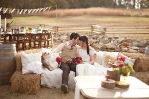 Деревенский стиль свадьбы