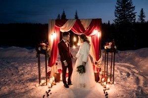 Зимняя выездная регистрация брака