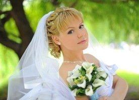 Элегантная фата невесты
