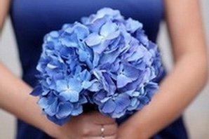 Красивый синий букетик