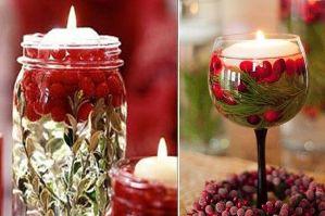 Свечи в воде на Новый год