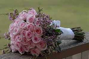 Букет на свадьбу от гостей
