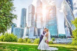 Свадебное фото у Москвы-сити