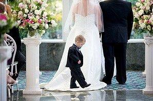 Малыш на свадьбе