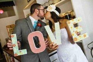 Креативные буквы на свадьбу