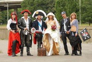 Пиратский стиль свадьбы