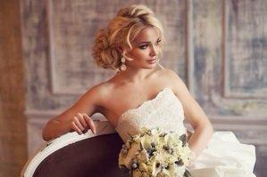 Постановочное фото невесты