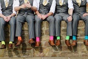 В веселеньких носочках