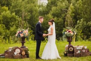 Постановочная фото жениха и невесты