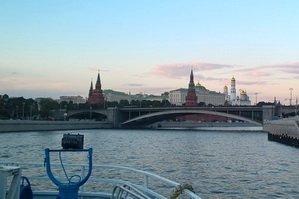 Вечерний вид Москвы